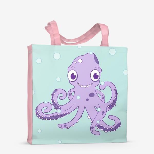 Сумка-шоппер «Любознательный осьминог»