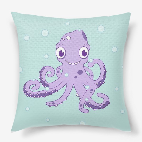 Подушка «Любознательный осьминог»
