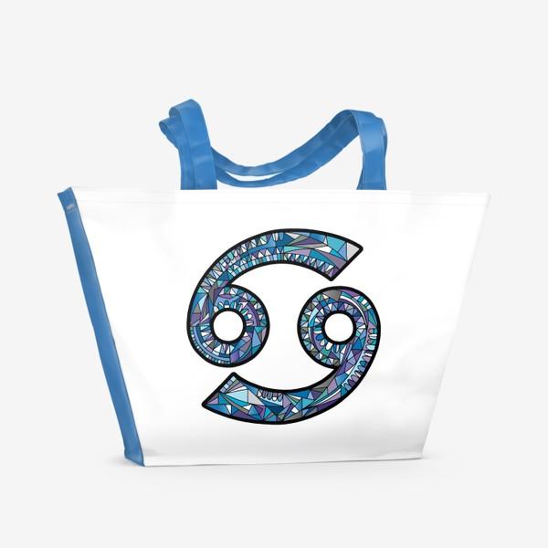 Пляжная сумка «РАК знак зодиака»