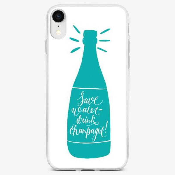 Чехол iPhone «Пей шампанское!»