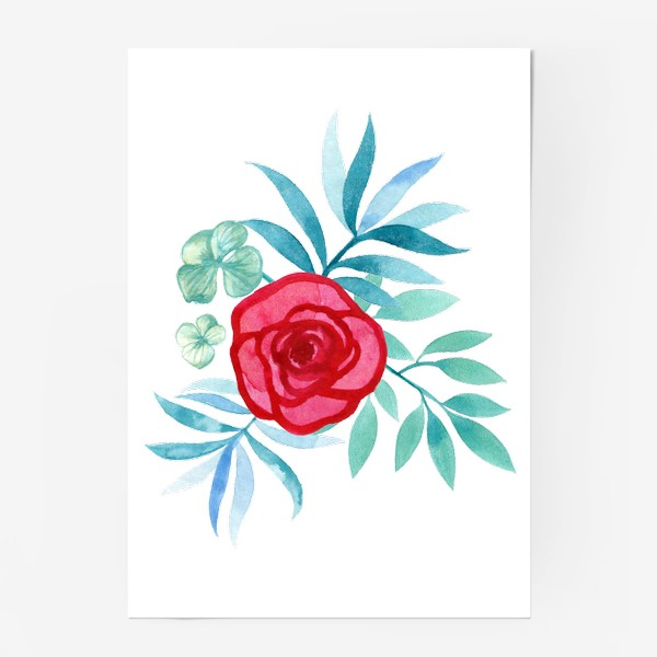 Постер «Розовый цветок»