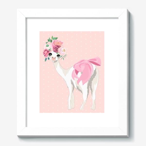 Картина «Лама с цветами»