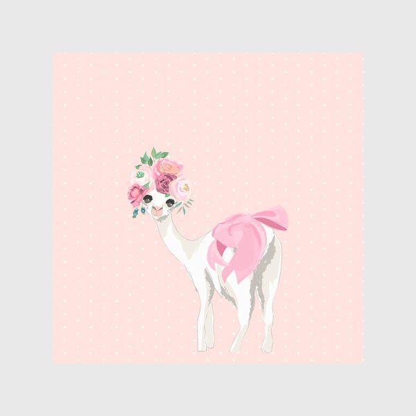 Скатерть «Лама с цветами»