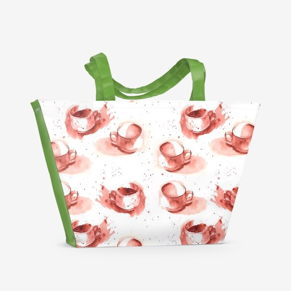 Пляжная сумка «Паттерн Чашечки»