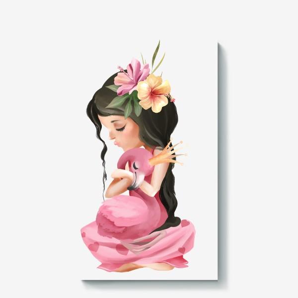 Холст «Принцесса с Фламинго»