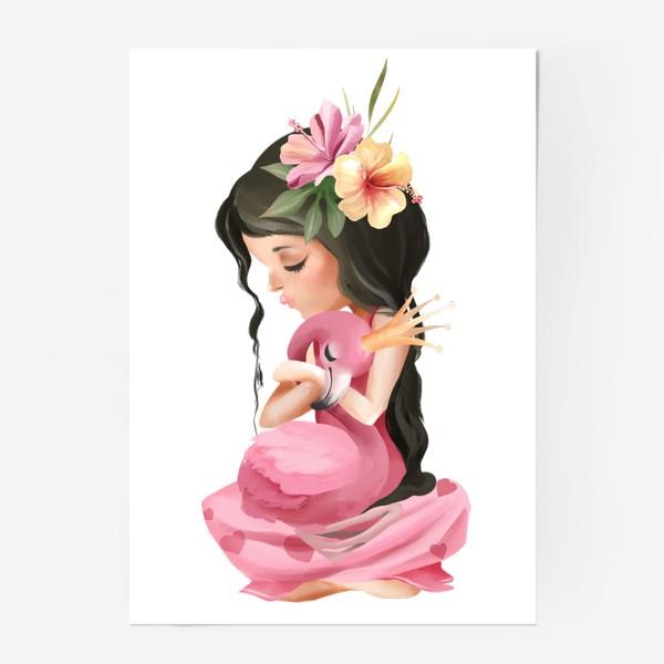 Постер «Принцесса с Фламинго»