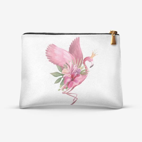 Косметичка «Розовый фламинго»