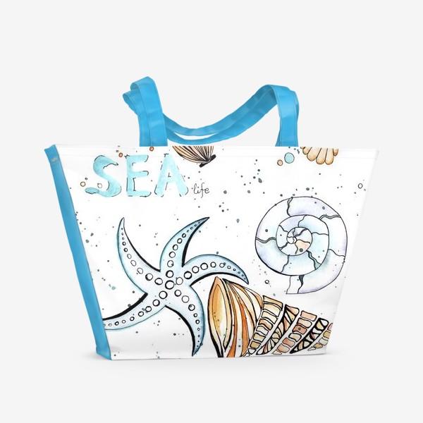 Пляжная сумка «Море. Лето. Ракушки.»