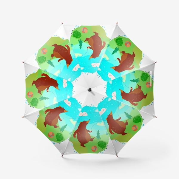 Зонт «Мишка скачет со скакалкой»