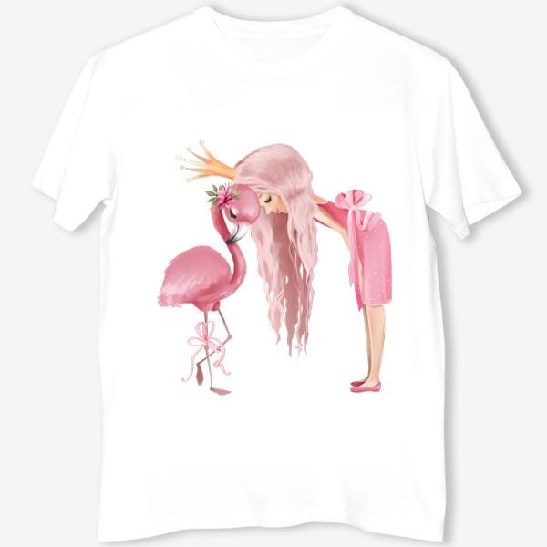 Футболка «Принцесса с Фламинго»