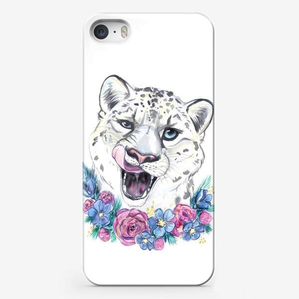 Чехол iPhone «снежный барс»