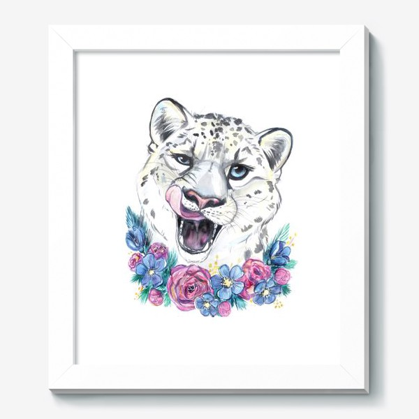 Картина «снежный барс»