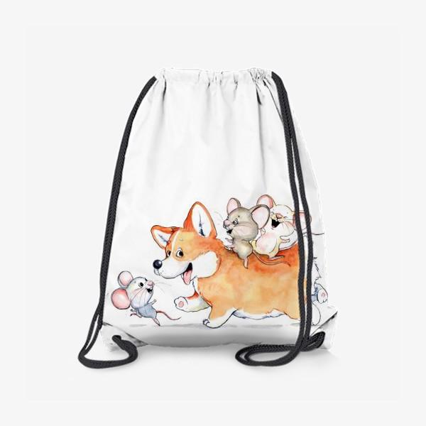 Рюкзак «веселый корги»