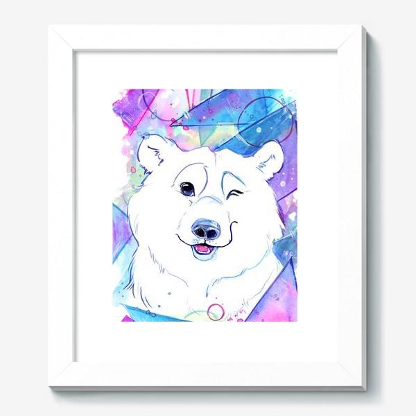 Картина «белый мишка»