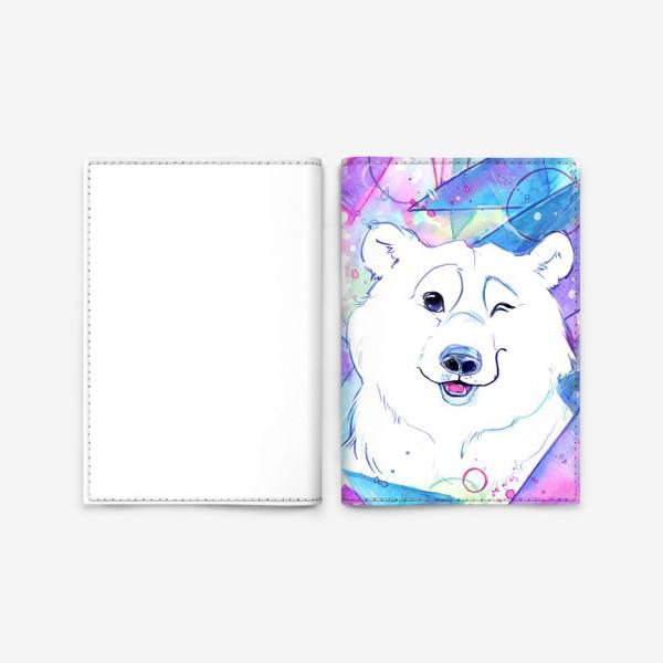 Обложка для паспорта «белый мишка»