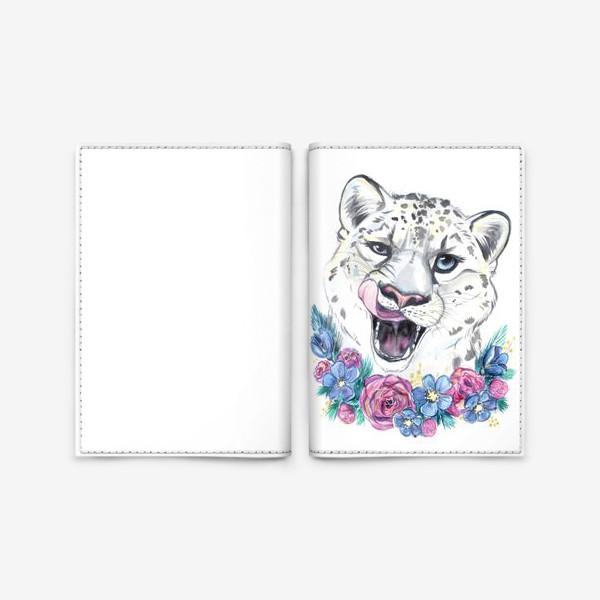 Обложка для паспорта «снежный барс»