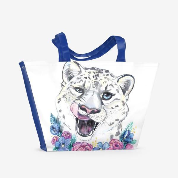 Пляжная сумка «снежный барс»