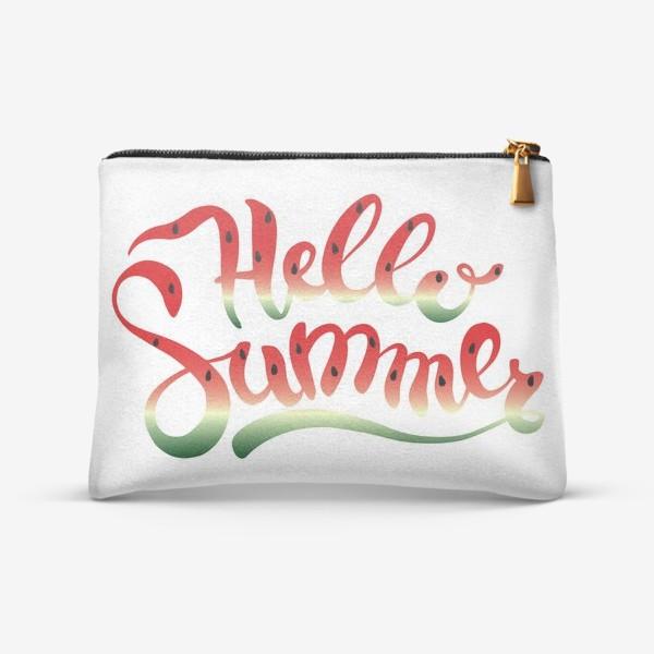 Косметичка «Hello Summer летняя надпись»