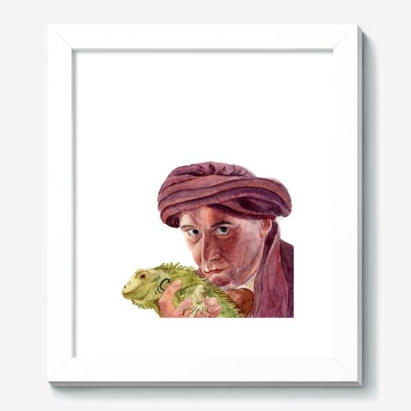 Картина «Профессор Квиррелл с игуаной из Гарри Поттера»