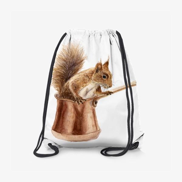 Рюкзак «белка в посуде турка»