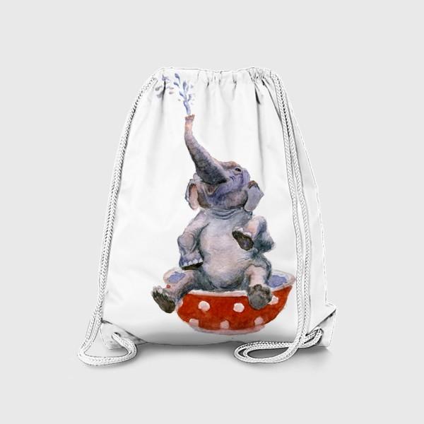 Рюкзак «слон купается в посуде пиала»