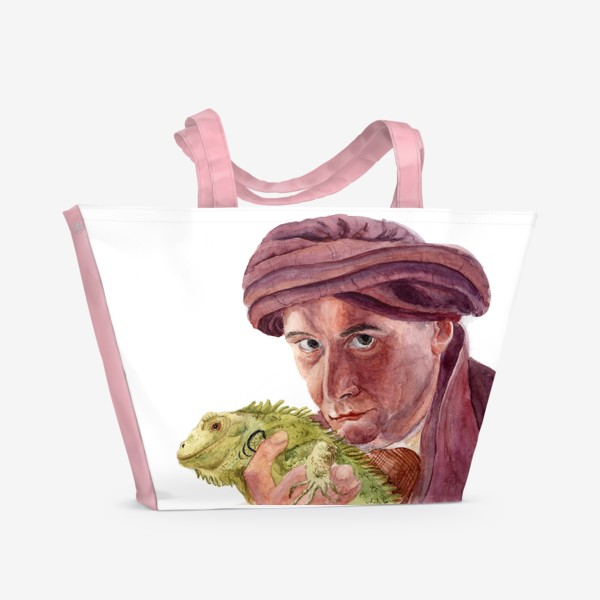 Пляжная сумка «Профессор Квиррелл с игуаной из Гарри Поттера»