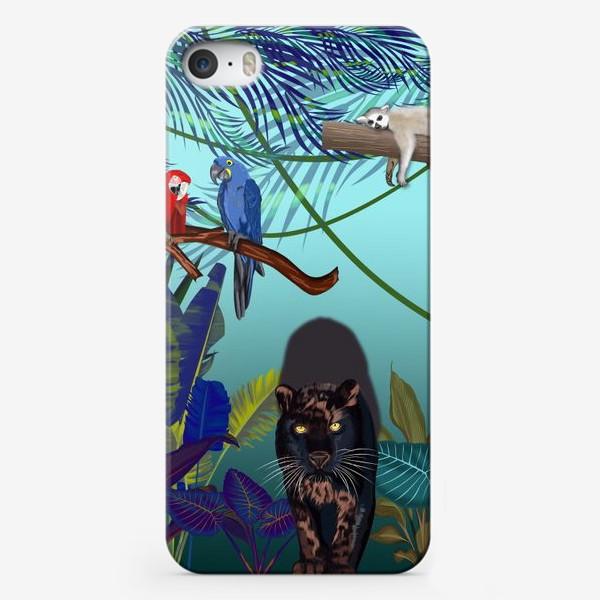 Чехол iPhone «Дикие джунгли зовут »