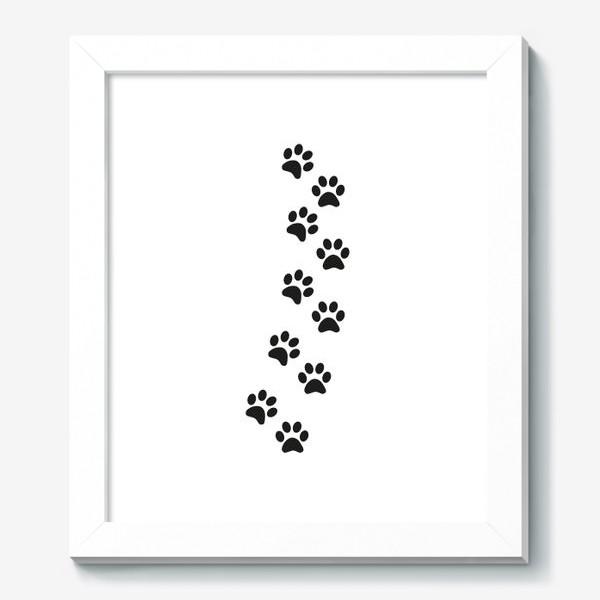 Картина «Лапки кошки/собачки, следы»