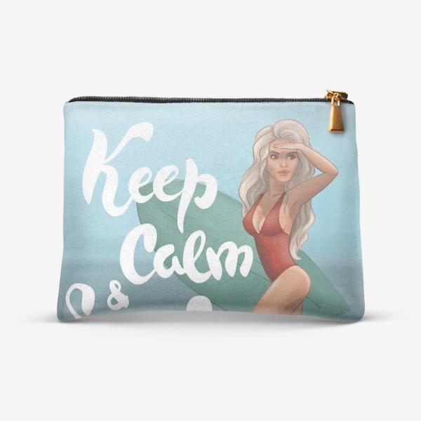 Косметичка «Keep calm and surf on»