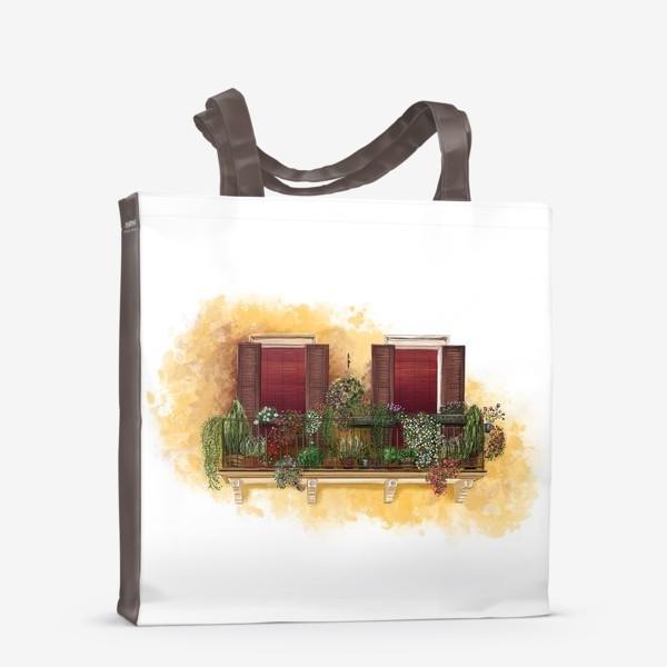 Сумка-шоппер «Уютные окна Италии.»