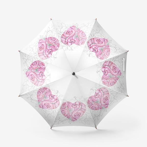Зонт «пионовое сердце»