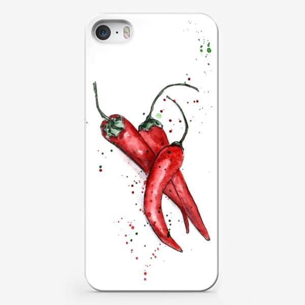 Чехол iPhone «Перец Чили. Жгучий вкус лета.»