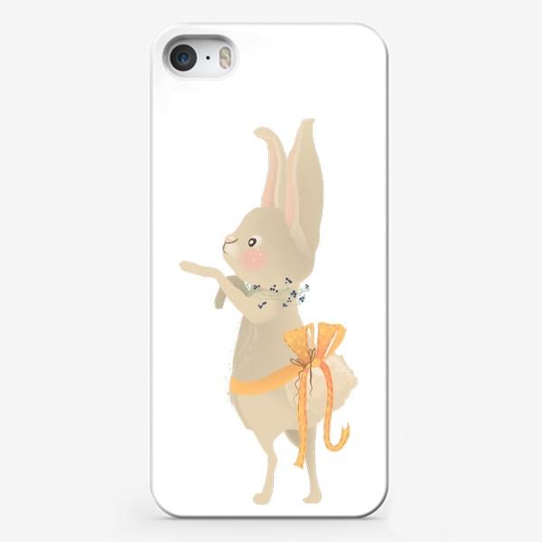 Чехол iPhone «Зайка с венком из цветов»