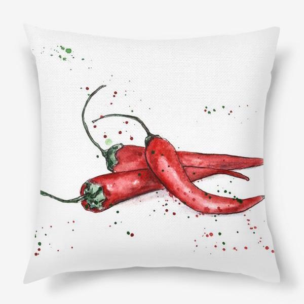 Подушка «Перец Чили. Жгучий вкус лета.»