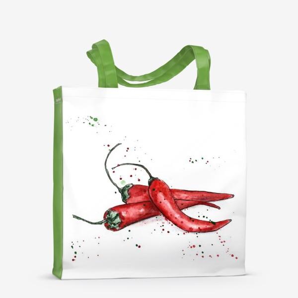 Сумка-шоппер «Перец Чили. Жгучий вкус лета.»