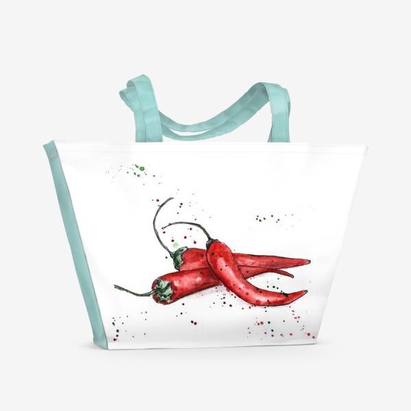 Пляжная сумка «Перец Чили. Жгучий вкус лета.»