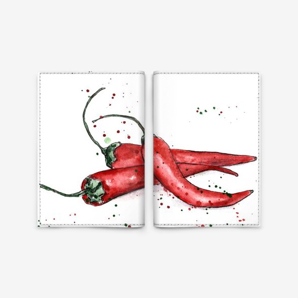 Обложка для паспорта «Перец Чили. Жгучий вкус лета.»