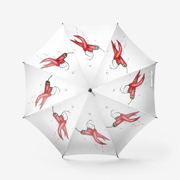 Зонт «Перец Чили. Жгучий вкус лета.»