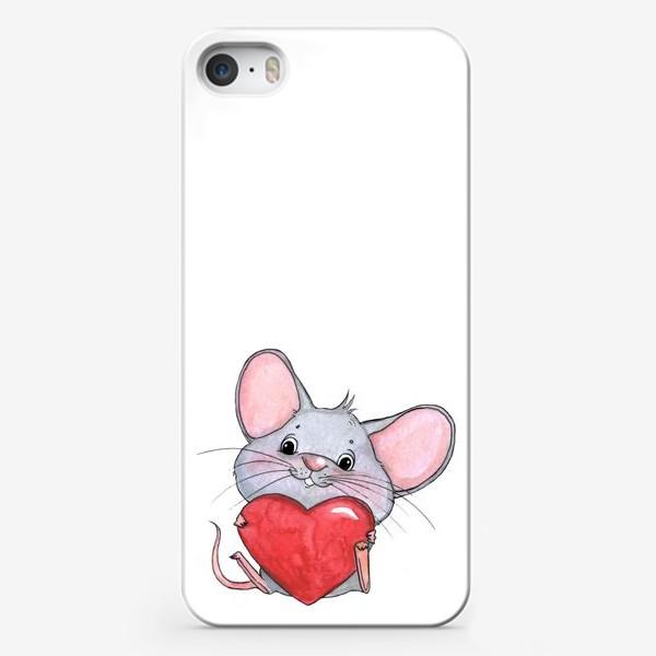 Чехол iPhone «мышонок с сердцем»