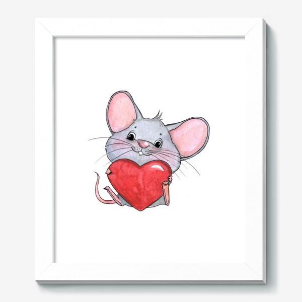 Картина «мышонок с сердцем»