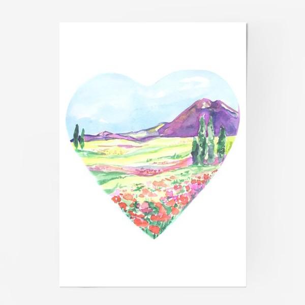 Постер «природа в сердце»