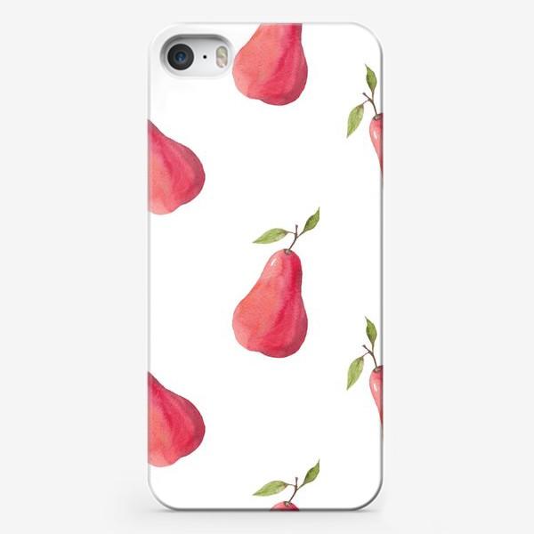 Чехол iPhone «Паттерн из акварельных груш»