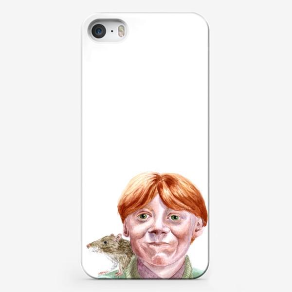 Чехол iPhone «Рон Уизли из Гарри Поттера  и его крыса Короста»