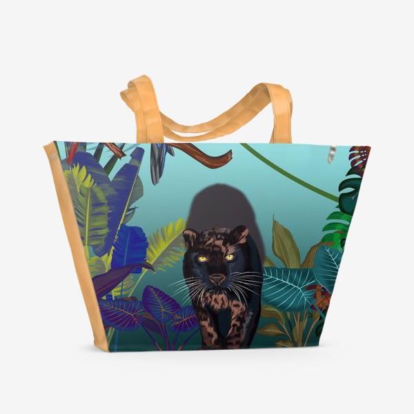Пляжная сумка «Дикие джунгли зовут »