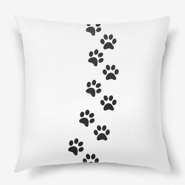 Подушка «Лапки кошки/собачки, следы»