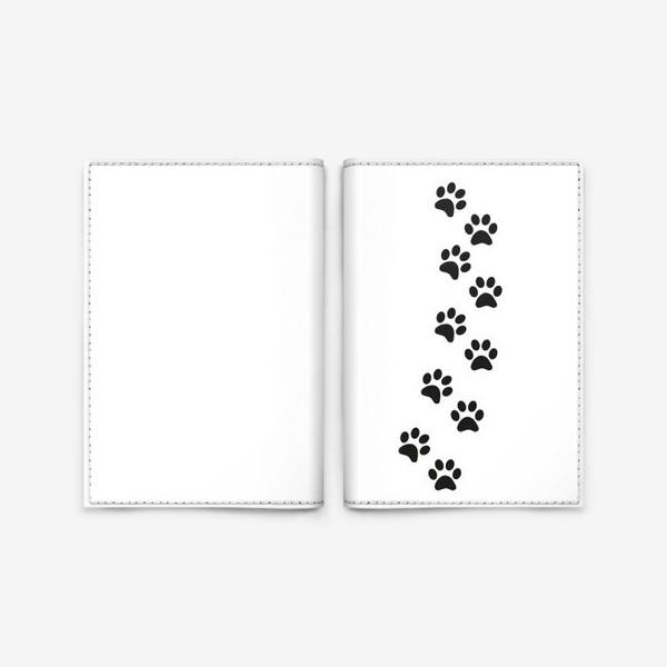 Обложка для паспорта «Лапки кошки/собачки, следы»