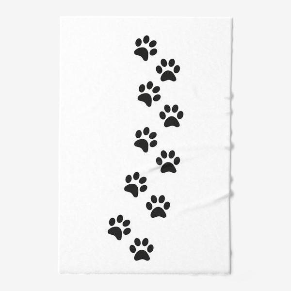 Полотенце «Лапки кошки/собачки, следы»