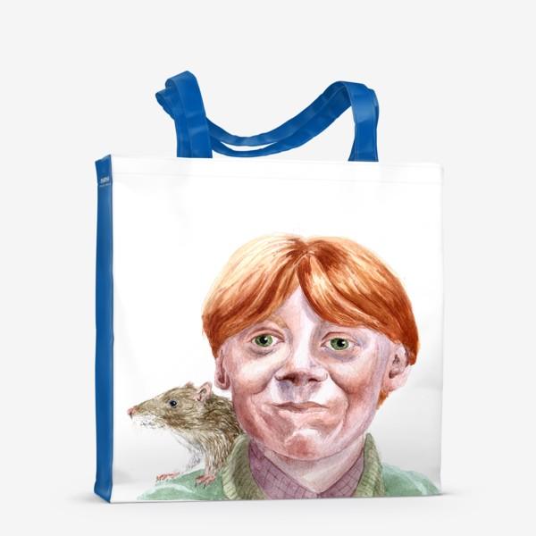 Сумка-шоппер «Рон Уизли из Гарри Поттера  и его крыса Короста»