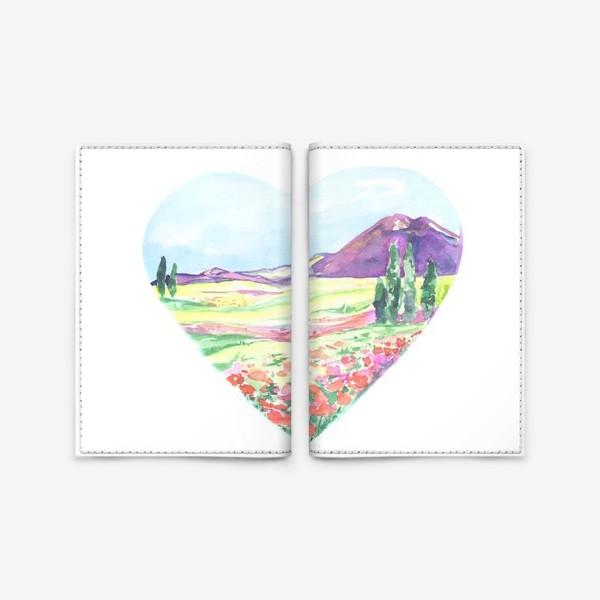 Обложка для паспорта «природа в сердце»