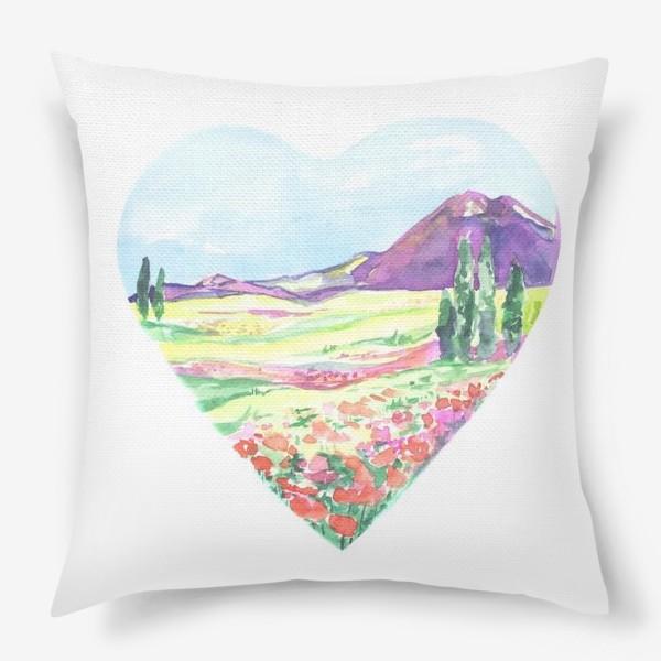 Подушка «природа в сердце»